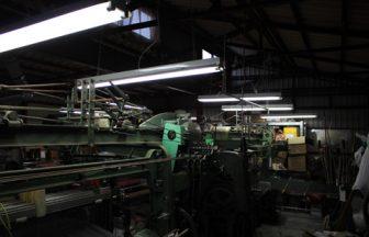 織物工場内